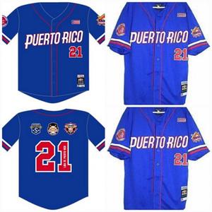 Puerto Rico Latin héritage S2 personnalisé NLBM Negro Leagues Baseball Jersey Stiched Nom Stiched Numéro d'expédition rapide