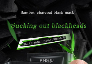Anti-Aging mascarilla Pore Cleaner Black face Skin Care Bamboo charcoal mascarilla Blackhead removal Mineral mud Wholesale nose Masks