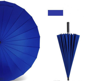 24 Osso cor sólida Adulto manual reta presente punho Negócios Golf Umbrella Publicidade Longo Umbrella 777 27