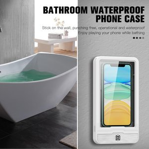 Bathroom Waterproof Phone Case Bathroom Phone Stand Wall Mounted Phone Box for iPhone Samsung Huawei Xiaomi Oppo Vivo