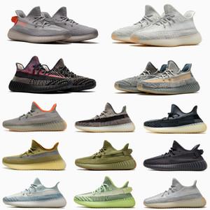 2020 Kanye West ABEZ Asriel Israfil Marsh zapatos corrientes de Luz trasera de lino Zyon Cinder Yeshaya estáticas reflectantes para hombre de las zapatillas de deporte Entrenadores