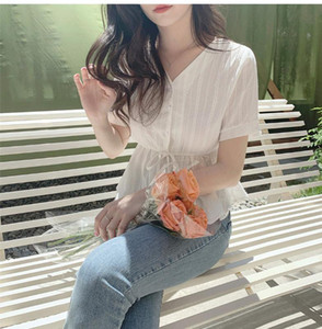 Embroidery Shirt Summer White Blouses Women Tops femme Casual Women short sleeve Girls Blouse Linen Cotton Lace up Plus Size