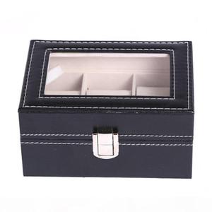 fashion PU Leather Watch Boxes 2 3 5 6 10 12 20 24 Grids Watch Storage Organizer Box Display Watch Case
