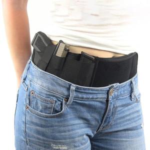 Tattica esterna finale della pancia Banda Fondina celato universale Carry pistola della pistola del sacchetto di vita elastica regolabile Belt Bag Cintura