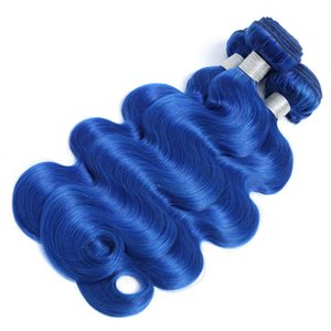 Fashion Colorful Brazilian Human Hair Bundles Blue Body Wave Hair Weave Bundles Remy extensions from 8 to 30 inches