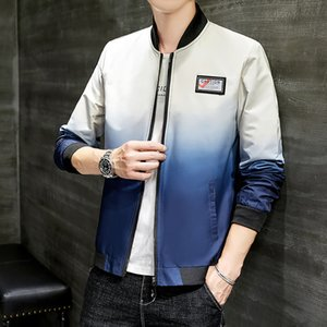 2020 Autumn & Winter Jacket Male New Style Korean-style Fashion Handsome Thin Long Sleeve Youth Stand Collar Cross Border Men'S