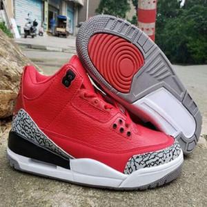 Manbasketballshoes Jumpman 3 Houston Full Purple Black Mens Basketball Shoes 3s Cactus Jack Mens Sports Sneaker