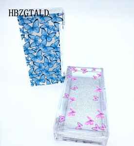 NEW 10 20 pack 25mm Eyelash Packaging Box wholesale Lash Boxes Packaging 3d Mink eyelashes butterfly print Acrylic case Storage