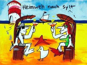 Udo Lindenberg HEIMWEH NACH SYLT Decoración pintado a mano de la impresión de HD pintura al óleo sobre lienzo de arte cuadros de la pared de lona 191218