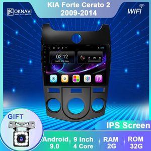 OKNAVI Android 9.0 IPS 2.5D Screen für KIA Forte Cerato 2008-2014 Multimedia Stereo-Auto-Spieler GPS-Navigation 2-DIN-Radio Nein DVD Auto-DVD