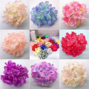 La cabeza de flores de seda artificial rica del color de flores secas de la boda del Hydrangea Bastante Decoración Decoración orden de ensayo 0 5 ml E2
