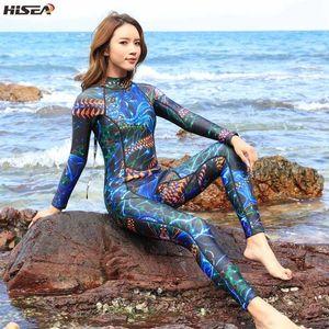 3mm 50 ++ Elastik Wetsuits Neopren Kadınlar Tek parça mayo Yüzme Sörf Spearfishing Suit Aşırı spor sıcak Dalış dalış elbisesi