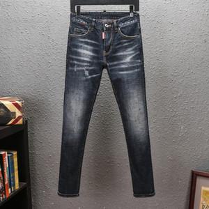 2020 Mens Distressed Ripped Biker Jeans Slim Fit Motorcycle Biker Denim For Men Fashion Hip Hop New Arrivals men s clothing