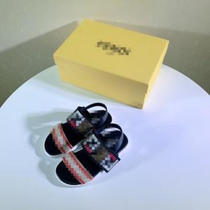 20ss Fashion Boys Sandals Children Shoes School Sports Sandals Summer New Baotou Soft Bottom Slip Leather Kids Sandals for boy