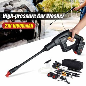 Car Washer 21V Cordless Portable High Pressure Car Washer Spray Gun 10000mAh Li-ion Battery 5m 16.4ft GardenCar Cleaning Tools