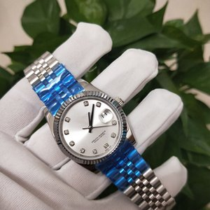 High quality Asian watch 2813 automatic mechanical female watch 178274 model 31mm white diamond dial stainless steel strap sapphire glass