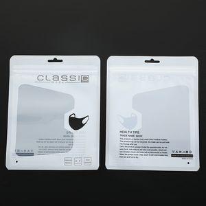 Englisch Gesichtsmaske Beutel Verpackungsbeutel maskieren Plastikverpackungsbeutel nur Tasche ohne Maske DHL VersandPowerocks XD23709