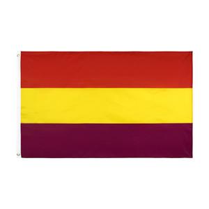 Бесплатная доставка на складе 3x5ft 90x150cm висячие Второй Испанской республики Флаг Испании Флаг Империи и Знамени Celebration украшения