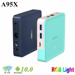 A95X R5 Android TV Box 10 4 GB 32 GB 64 GB de Rockchip RK3318 4K 1080P HD Media Player Set Top Box 2.4G 5G se dobla Wifi Bluetooth 2G16G TVBox