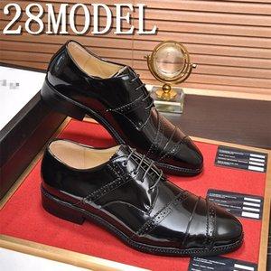 Men Dress Shoes Genuine Leather Shoes Classic Tassel Brogue Mens Formal Shoe Casual Bullock Dress Wedding Shoes New Fashion
