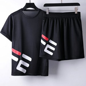 New summer leisure sports suit men's short-sleeved T-shirt shorts loose two-piece suit slim sports jogging designer sports suit