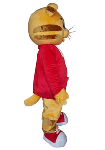 2020 фабрики сразу новый Даниэль Тигр костюм талисмана Daniel Tiger Fur Mascot костюмы для Хэллоуина партии