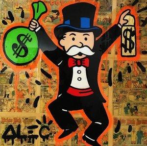 Alec Monopoly Banksy dinero spray Decoración Artesanías / impresión de HD pintura al óleo sobre lienzo arte de la pared de la lona representa 200731