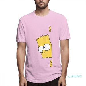 Cotton Os Simpsons desenhador de moda camisas camisas das mulheres dos homens de manga curta Camisa O c3705t07 Simpsons Impresso camisetas Causal