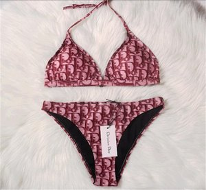 Designer de banho Mulheres Marca Bikini Suits Hot Summer Sexy Bikini Define Duas peças de design Swimwear Tamanho S-XL