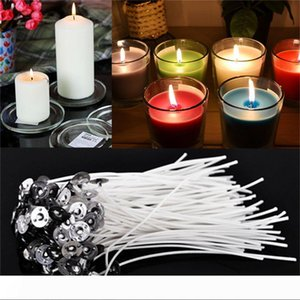 60PCS Durable Candle Wicks Cotton Core Waxed With Sustainers for DIY Making Candles Gifts Supplies 4 Inch Wholesale