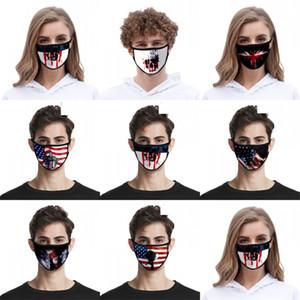 Masques Tissu Noir Lavable Masque Respiratoire Mode Usa Drapeaux Crâne Mascarilla Reuseable Enfants Liberté Goddes 2 2zj C2