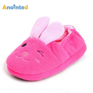 New Rose Red Rabbit children's cotton home indoor non-slip Home slippers rubber bottom cartoon slippers
