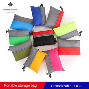 Folding environmentally friendly portable storage supermarket hand shopping bag shopping bag large polyester plaid handbag