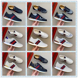 2020 Black Little Bee Shoes Men Outdoor Damping Men Plus Size Male Footwear White Leather Casual Shoes 38-44