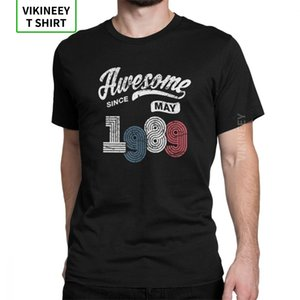 Awesome Since May 1989 Shirt Vintage 29th Birthday T-Shirt for Men Short Sleeve Novelty Tees Cotton Fabric Tops Gift T Shirts