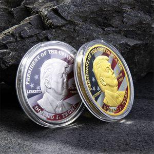 Nuovo Donald Trump presidente monete commemorative in Coin Trump Oro Argento Ferro America del Presidente DWF446 Commemorative