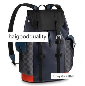 M51457 Christopher Pm Men New Blue Backpacks Fashion Shows Oxidized Leather Business Handbags Totes Messenger Bags