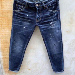 Mens Designer Jeans Denim Jean Black Ripped Pants Slim Fit Pour Hommes Fashion Brand Biker Motorcycle Rock Revival Jeans High Quality