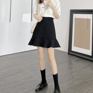 New slim large size summer dress flounces slim skirt female 2020 new high waist skirt female autumn a word hip