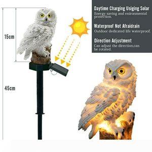 Umlight1688 Coruja luz solar com painel de LED Solar Falso Owl Waterproof Outdoor Solar caminho levava Lawn Quintal Lâmpadas Jardim