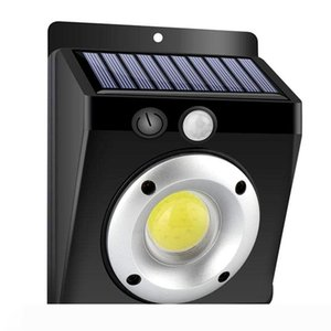 BRELONG LED solar light outdoor wall light safety light, motion sensor waterproof COB body sensor 3 modes