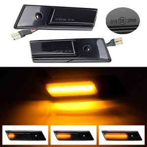Para BMW Serie 3 5 7 E32 E34 E36 cubierta Iluminacion Led ahumado Shell dinámicas convierten Luz de señal intermitente secuencial de la lámpara