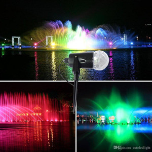 Halloween Decoration Rotating Spotlight Projection Christmas Light Show Waterproof RGB led flame lawn lamps Garden Land