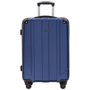 Luggage Set, Rolley Case Portable Bleu, extensible Roue Spinner Spinner Luggage Set avec poignée télescopique, trolley Voyage Coded C verrouillage