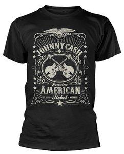 T-shirt Johnny Cash 'Americano Rebel' - nuovo amplificatore Ufficiale