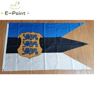 Estonya Bayrağı 3 * 5ft'lik Donanma Ensign (90cm * 150cm) Polyester bayrak Banner dekorasyon uçan ev bahçe bayrak Bayram hediyeler