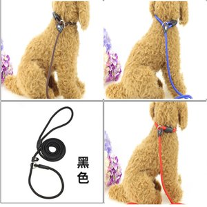 2020 Pet Dog Durable Nylon Rope Training Leash Slip Lead Strap Adjustable Traction Collar Pet Animals Rope Supplies 0.6*135cm 100pcs