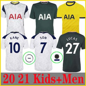 Erkekler + KIDS KIT 20 21 KANE SON BERGWIJN NDOMBELE Futbol Formalar 2020 2021 LUCAS DELE TOTTENHAM forması Futbol kiti gömlek Lloris GİRİŞ SPURS