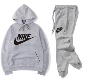 vendita 2pcs caldo tute Tuta uomini felpe con cappuccio pantaloni Uomo Abbigliamento Felpa Pullover donna sportiva Tennis Sport Tuta vestito di sudore