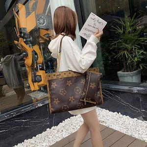 Iq2Pb 2019 Korean Shopping shoulder new style women's shopping large capacity Women's bag portable mother flower printed shoulder bag simple